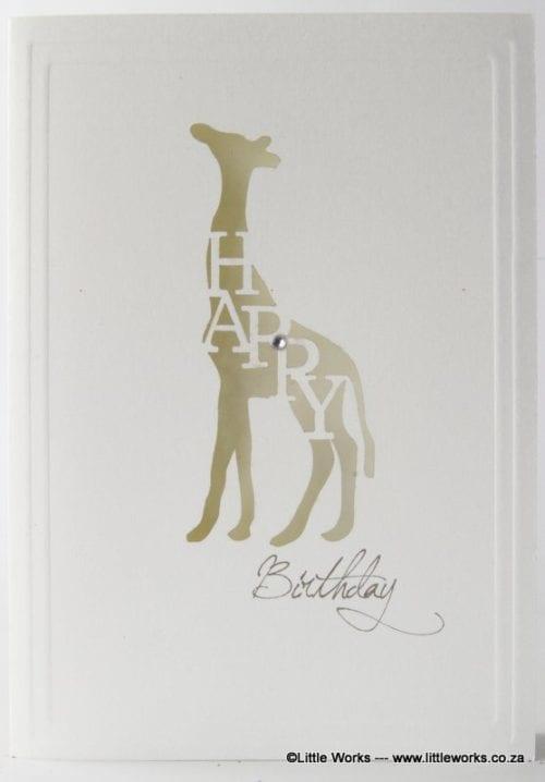 LCHBG - Happy Birthday - Giraffe