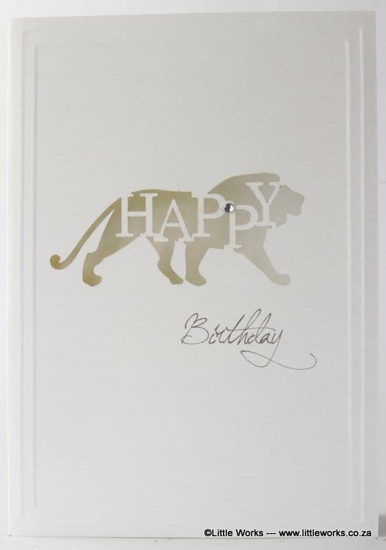 LCHBL - Happy Birthday - Lion